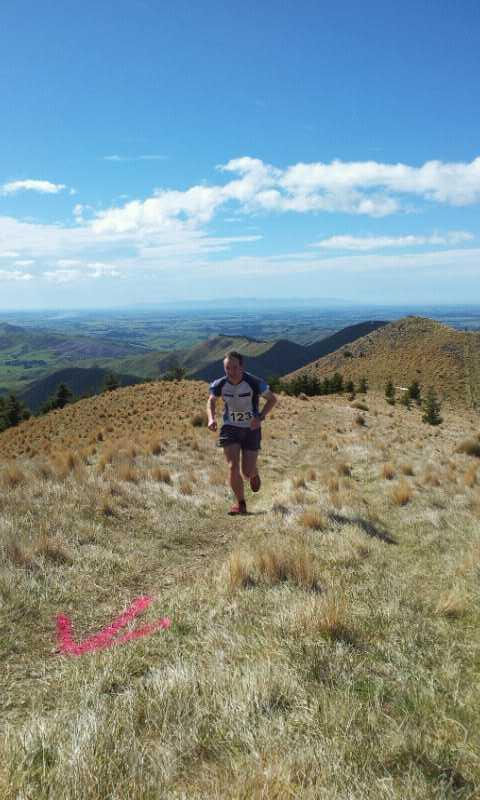 Approaching the top in the Bell Hill Challenge. (credit: Grant Guise)
