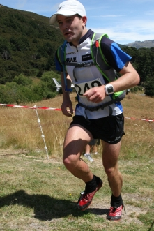 Up the Avalanche Peak Challenge finish chute 2013