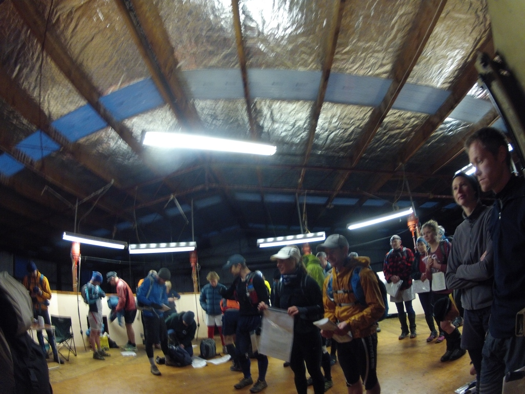 Briefing in the Woolshed, all ready to go for 13.... no wait 11 hours!