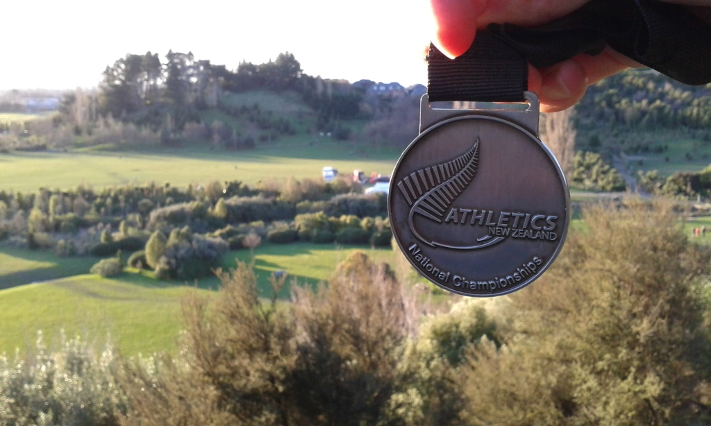 Silver team medal from the NZXC Champs at Halswell