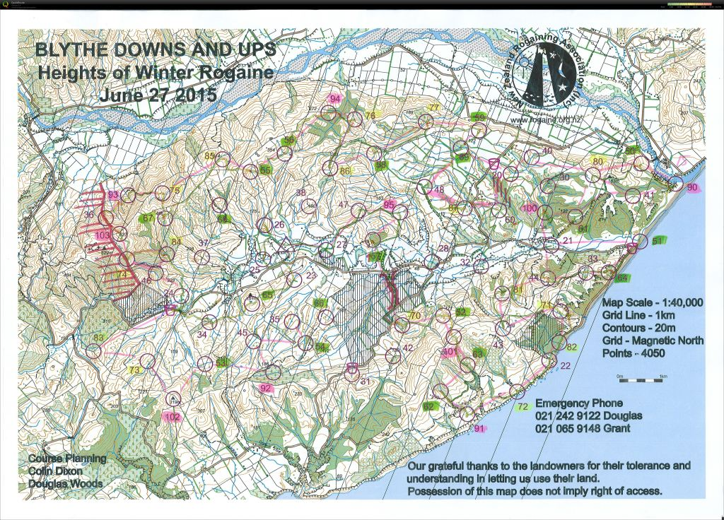 The Map, our intended course and our actual course!