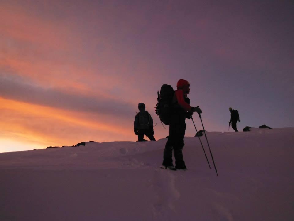 Sunset on the ridge!