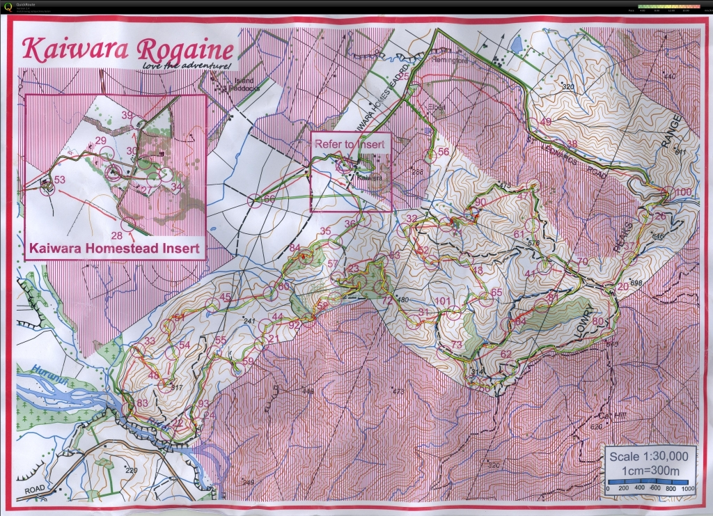 Our map, course and GPS route