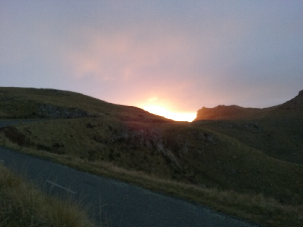 Sunrise above Castle Rock
