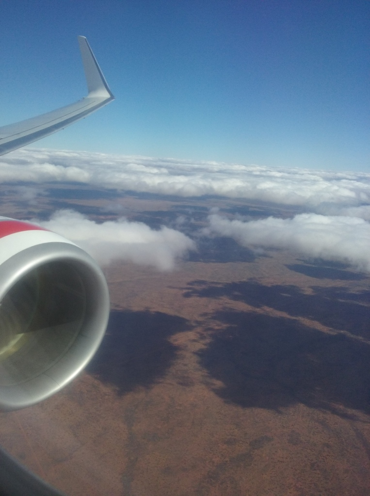 Flying across the Desert to Alice Springs