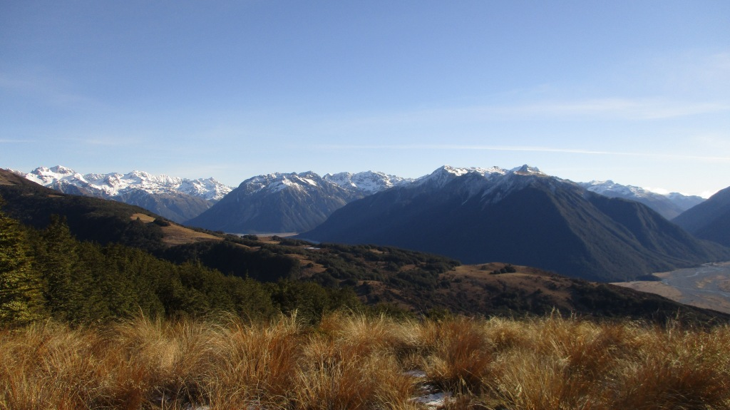 Calm day in the Arthurs Pass Mountains