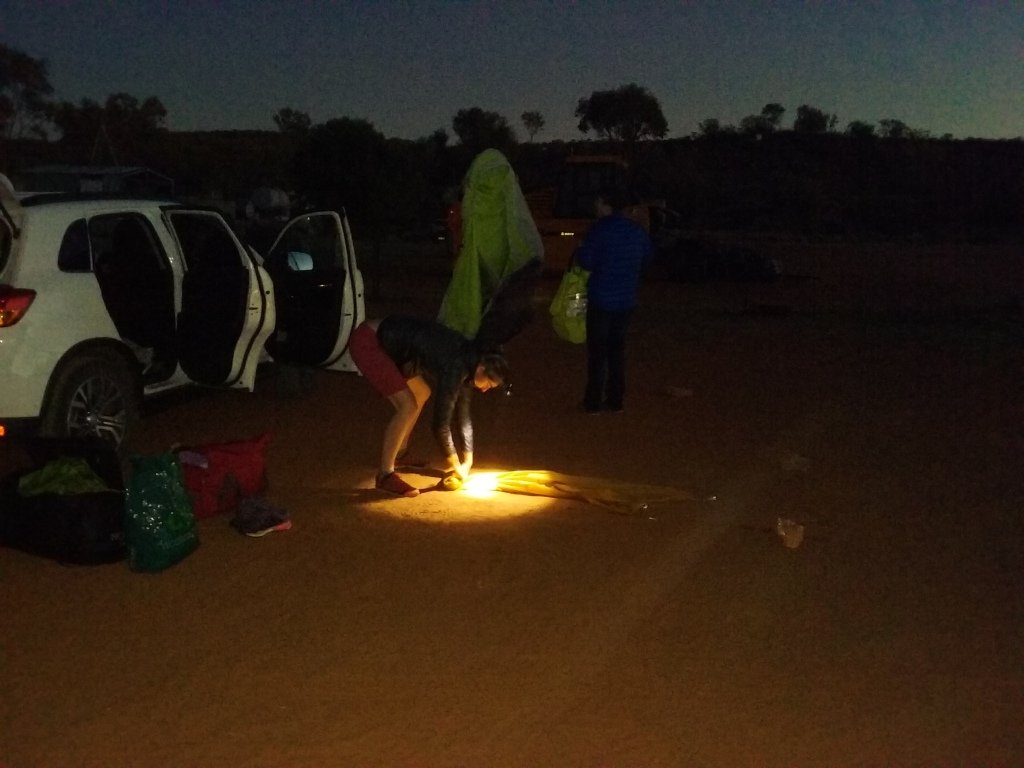 Camping in the desert, one of the highlights of the trip!