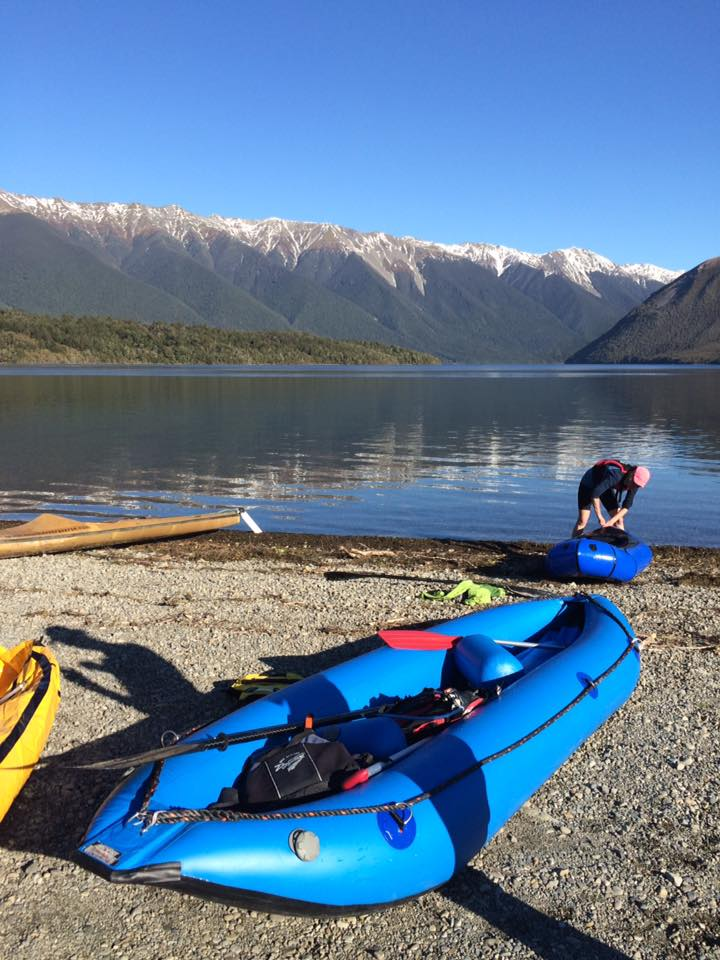 Getting ready for exploring the Buller river (pic. Emily Kelly)