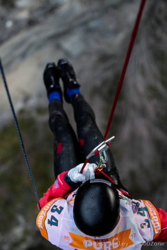 Abseiling off Skippers Bridge