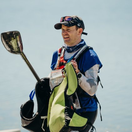 Carrying the gear out of the boat (Photo: Gravity Events NZ)