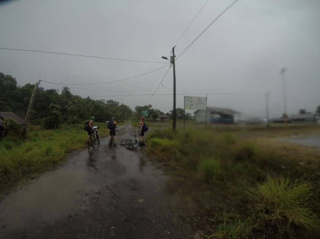 Checkpoint in the rain
