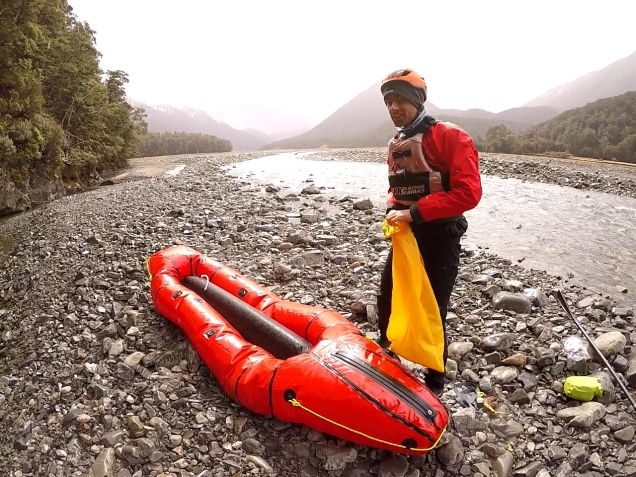Getting ready for some Packrafting with Big Red!