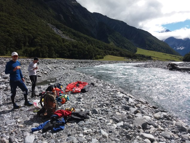 Its packrafting time! after lunch...