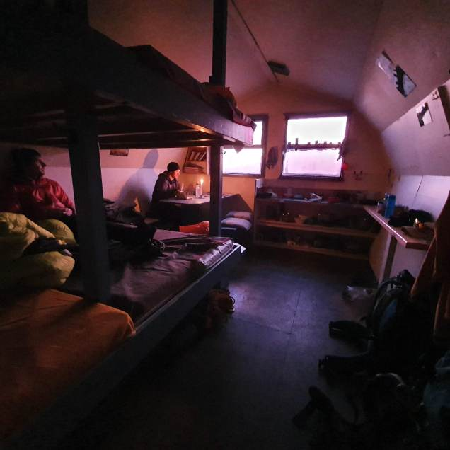 refuge within Barron Saddle hut