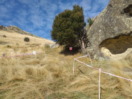 The Abseil rock control the day before the race